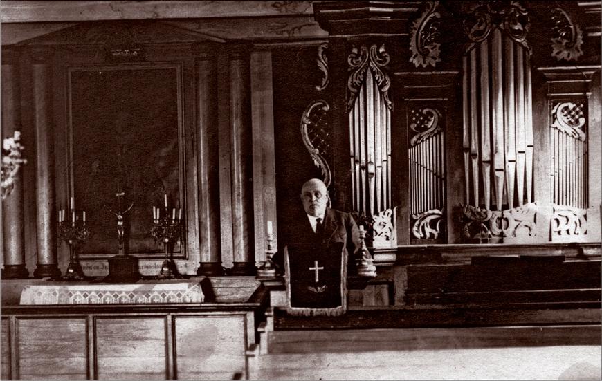 Käsmu kiriku orel, Köster Toomas Eintrei Allikas: Aarne Vaigu erakogu
