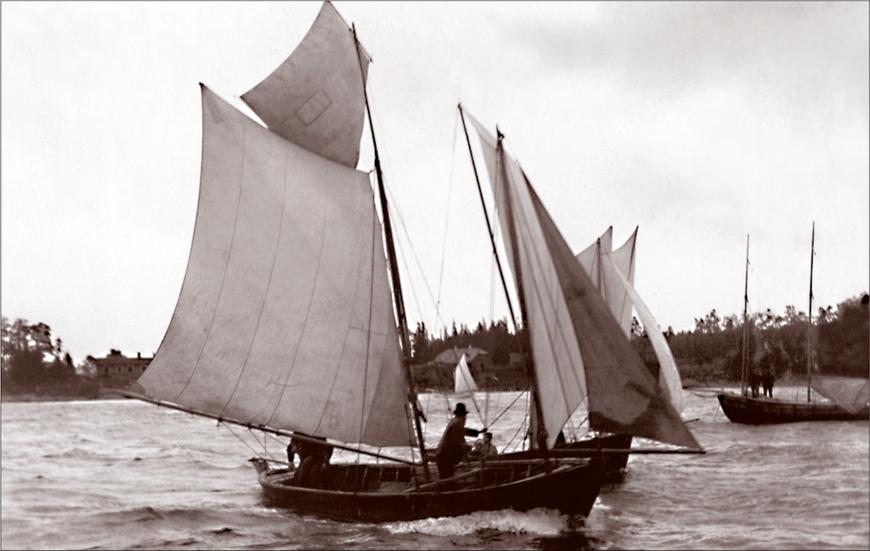 Regatt Käsmu lahel (1889) Allikas: Aarne Vaigu erakogu