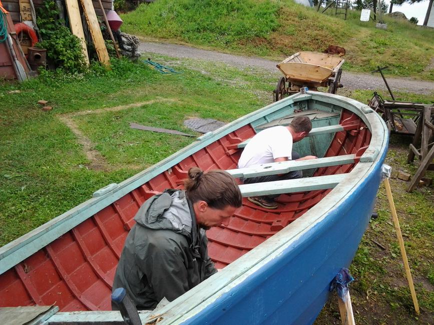 Harri Sandströmi purjega kaluripaat - renoveerimine