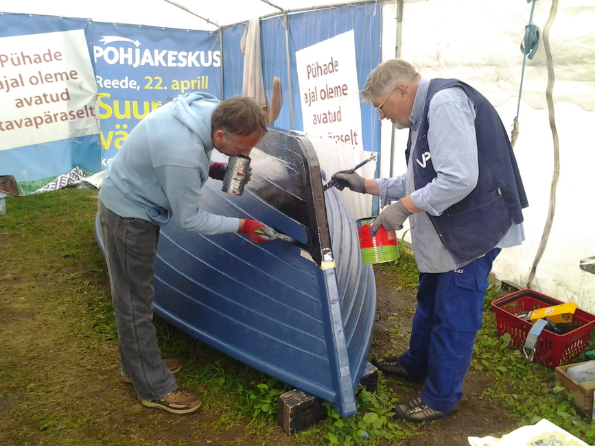 Sandströmi kaluripurjeka restaureerimine 29.06.2013 koolituspäeval