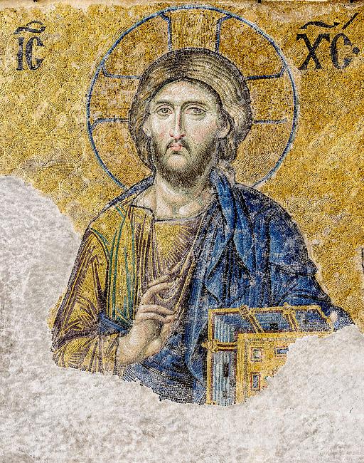 Jeesus Kristus, mosaiik, Hagia Sofia katedraalist