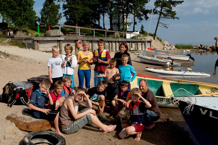 """""""Noor kalur"""" lastelaager 2012 Allikas: Aarne Vaigu erakogu, foto: Toomas Tuul"""
