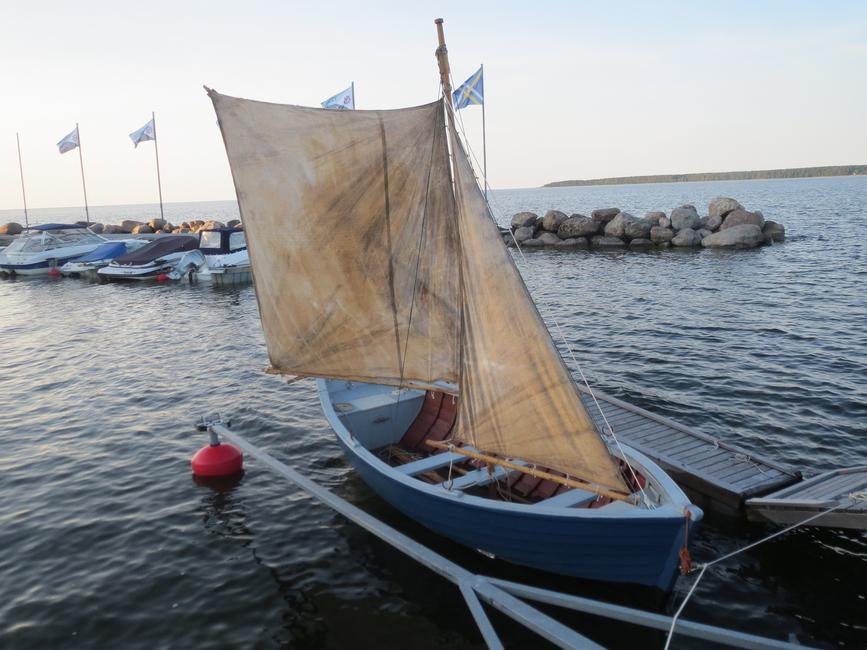 13.07.2013 veestatud Sandströmi restaureeritud kaluripurjekas
