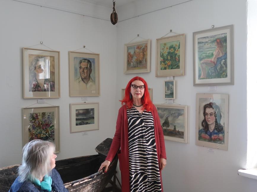 Siima Škopi näituse avamisel Käsmu Meremuuseumis 20.06.2020, Siima õpilane Eve Kask - oma õpetajast ja Siima akvarellidest oma kogus