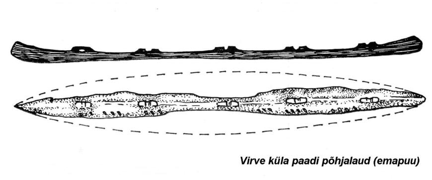 Virve küla paadi põhjalaud