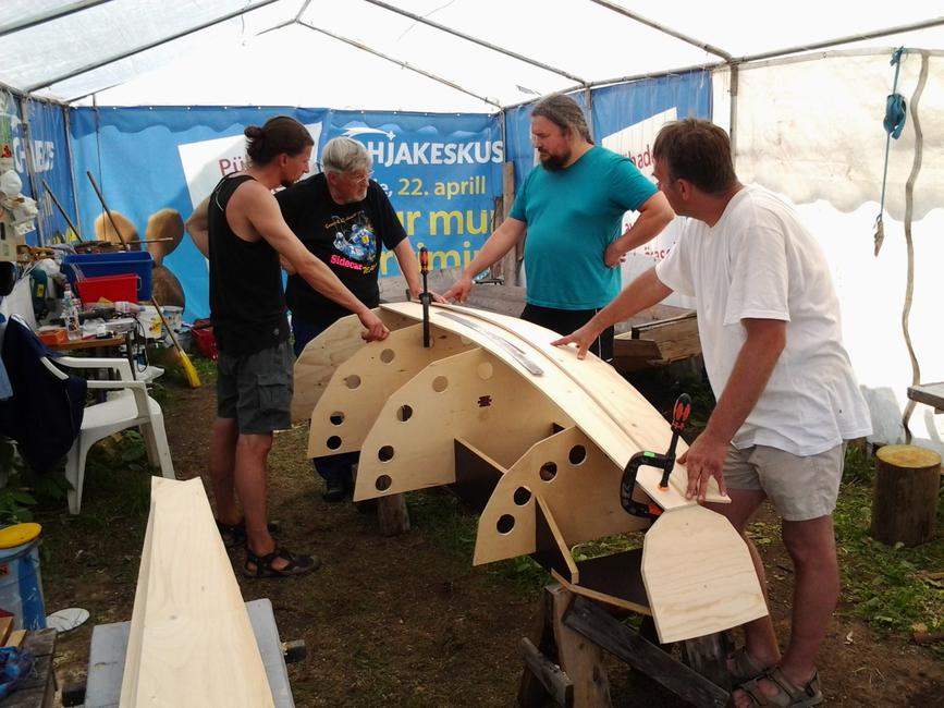 Aarne Viljasaare prototüüp purjeka ehitamine 29.06.2013