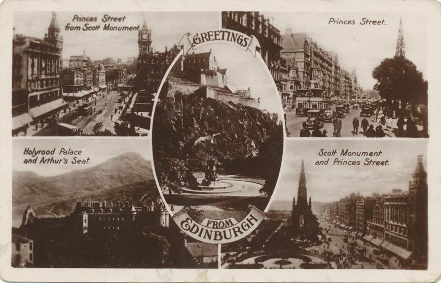 Edinburgh / Greetings from Edinburgh Allikas: Aarne Vaigu erakogu