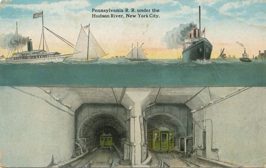 New York City / Pennsylvania R.R.under the Hudson River Allikas: Aarne Vaigu erakogu