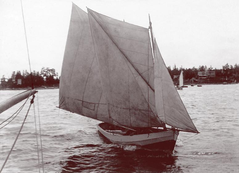 Regatt 1895, E. Russow, Klamasi kalapaat, poolvene Allikas: Aarne Vaigu erakogu