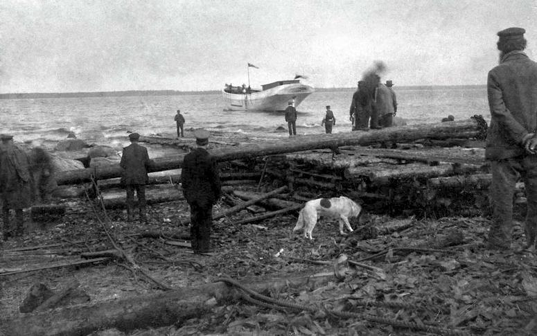 Egmundi veeskamine Kaevu valgamas 1900  Allikas: Aarne Vaigu erakogu