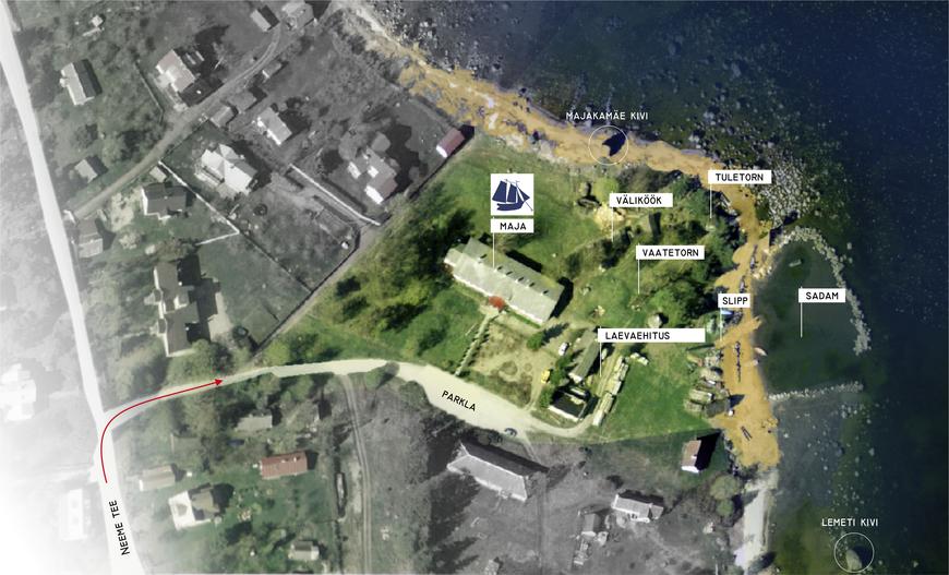 Käsmu Meremuuseumi territooriumi plaan