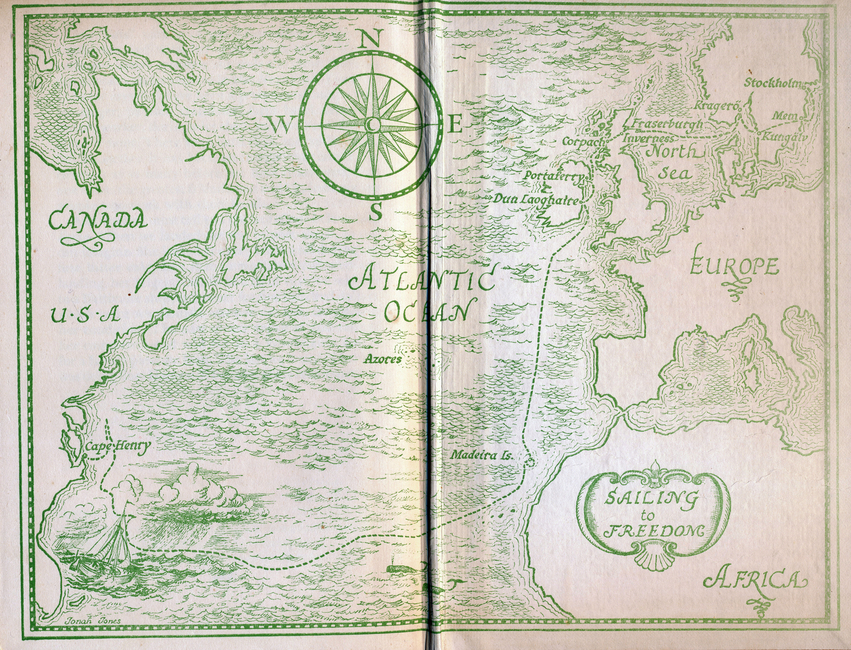 Raamatu Purjetamine vabadusse kaart