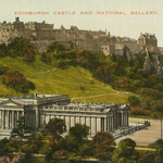 Edinburgh Castle and National Gallery