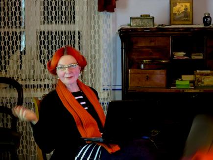 Eve Kask, ettekanne oma näitusest. Käsmu Meremuuseumi saalitoas 21.11.2015
