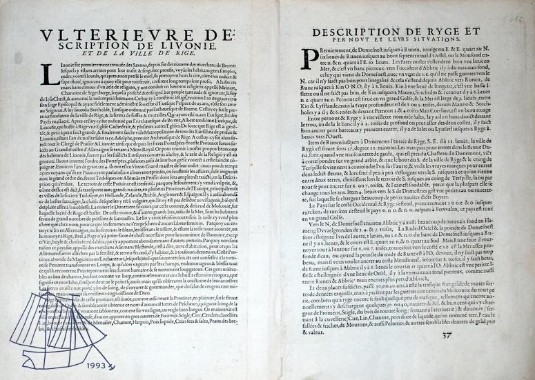 1588 Lucas Janszoon Waghenaer / tagakülg Allikas: Aarne Vaigu erakogu